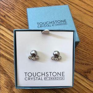 Swarovski Stud Earrings with Crystal Add-ons